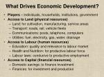 what drives economic development