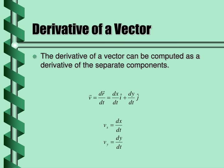 Derivative of a Vector