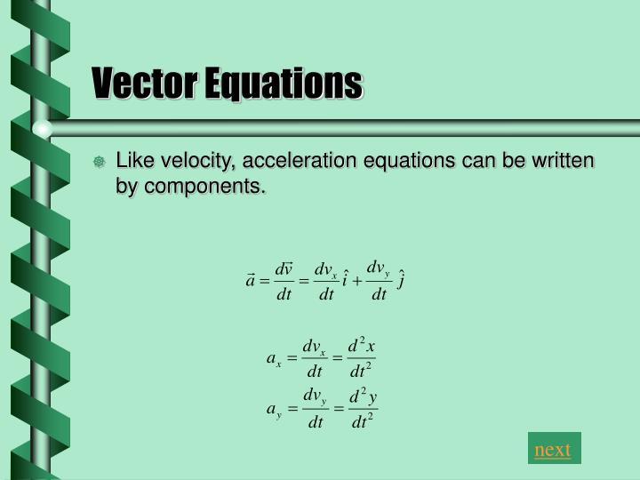 Vector Equations