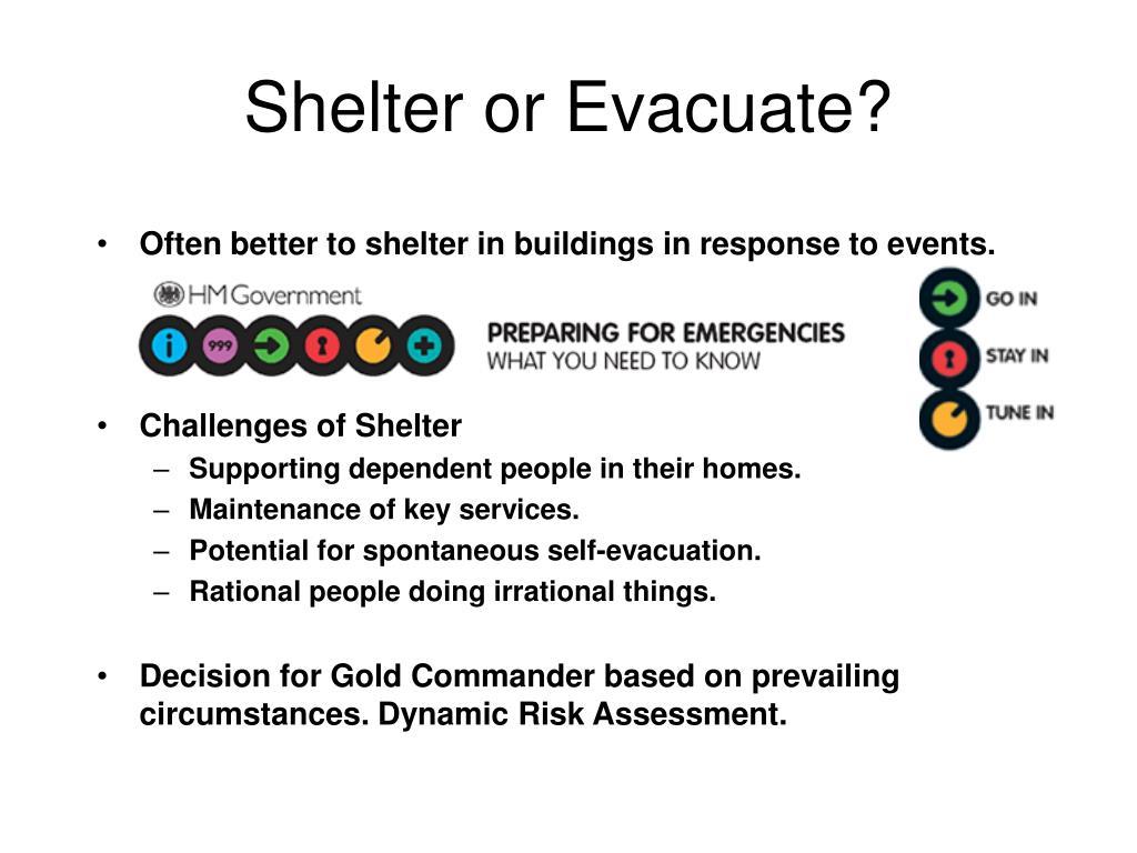 Shelter or Evacuate?