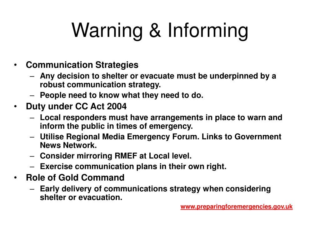 Warning & Informing