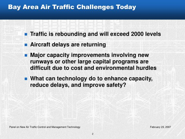 Bay Area Air Traffic Challenges Today