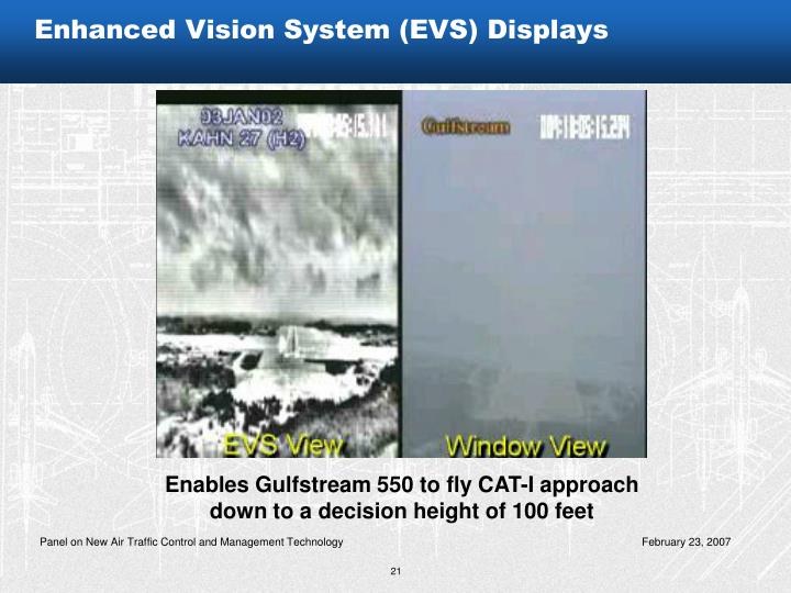 Enhanced Vision System (EVS) Displays