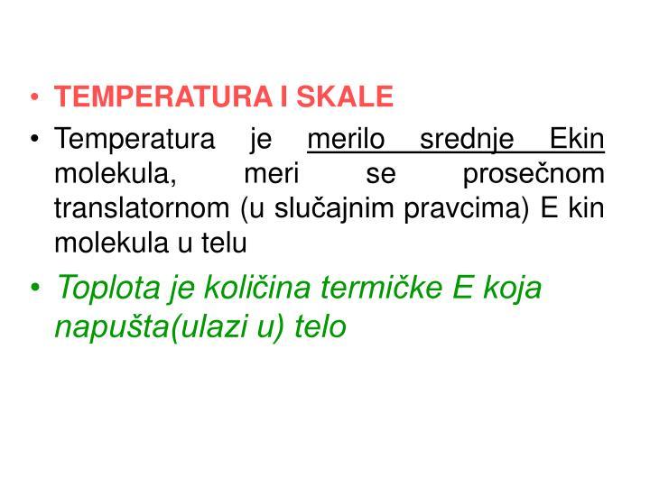 TEMPERATURA I SKALE