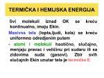 termi ka i hemijska energija