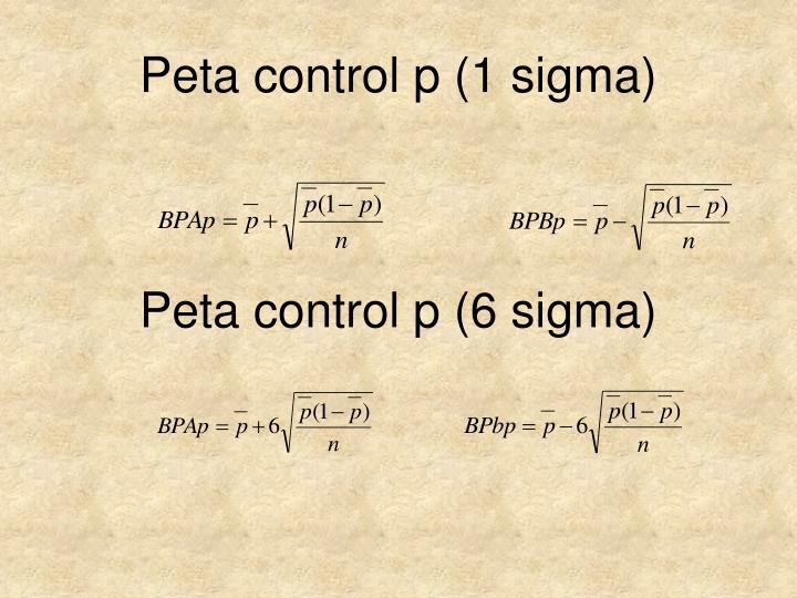 Peta control p (1 sigma)