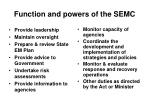 function and powers of the semc