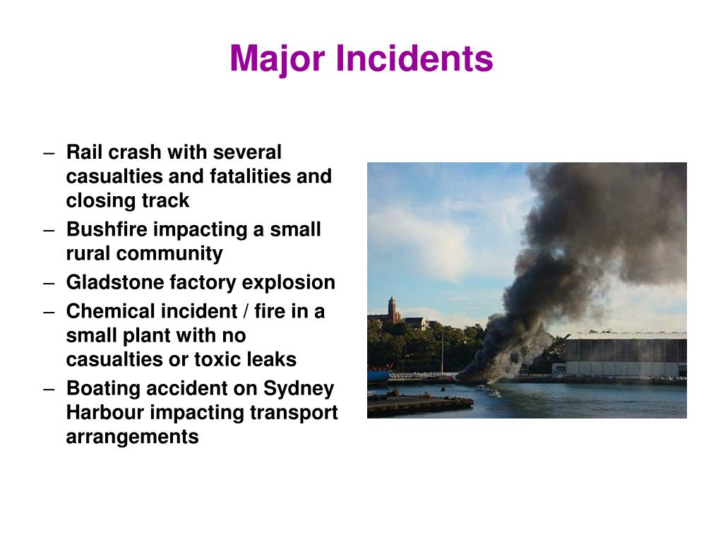 Major Incidents
