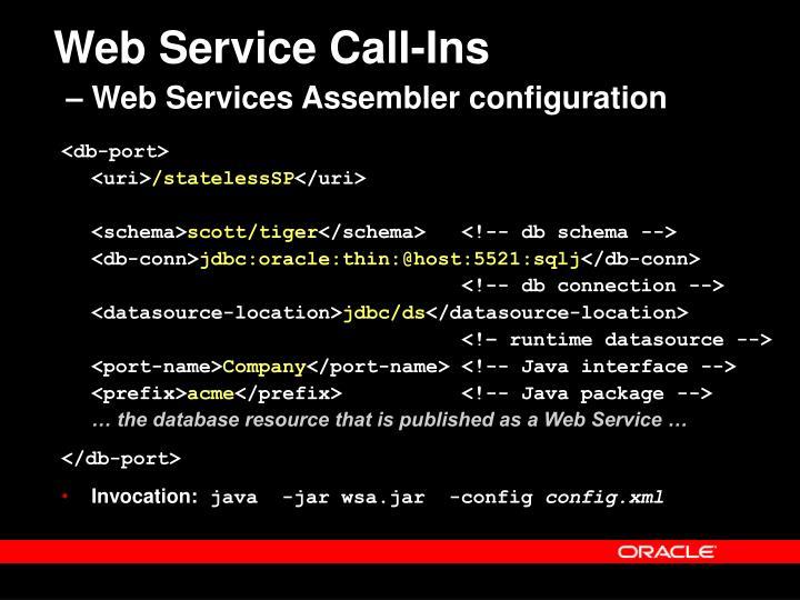 Web Service Call-Ins