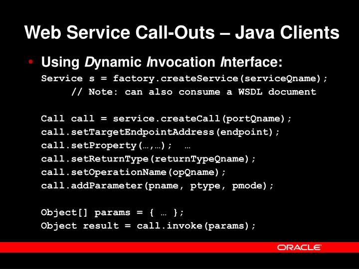 Web Service Call-Outs – Java Clients