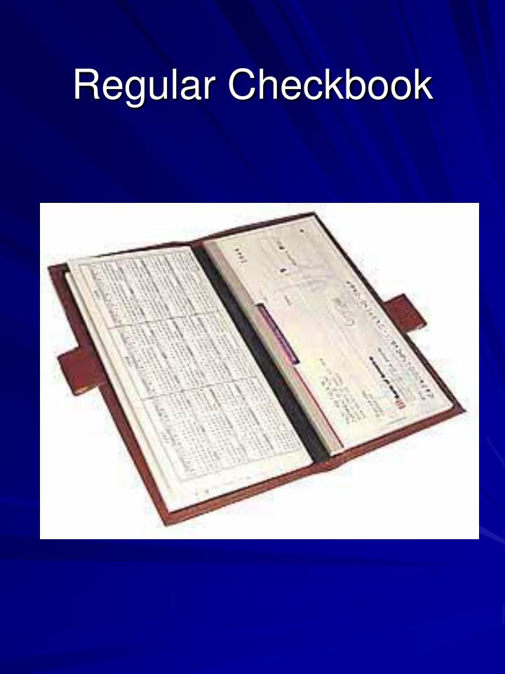 Regular Checkbook