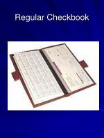 regular checkbook