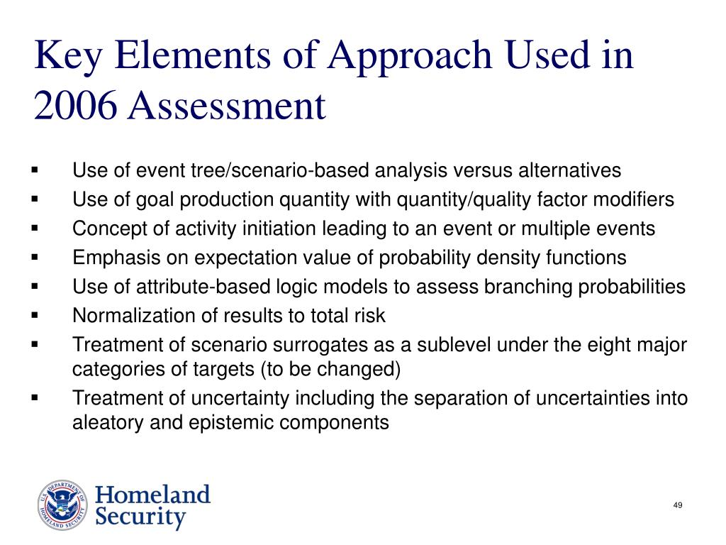 Key Elements of Approach Used in 2006 Assessment