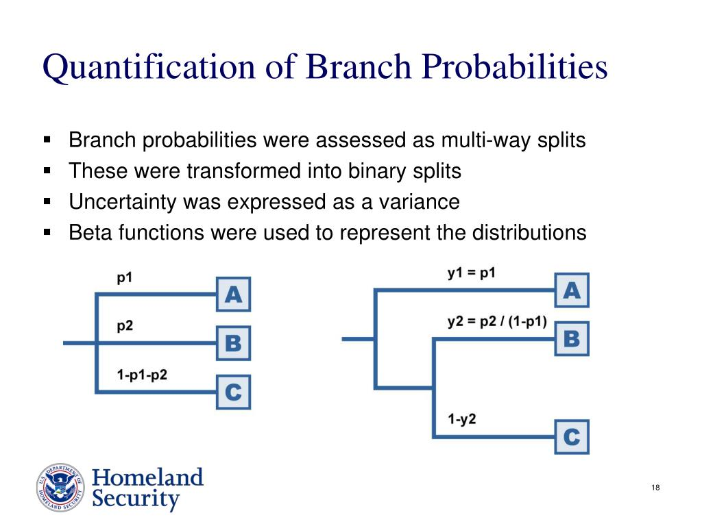 Quantification of Branch Probabilities
