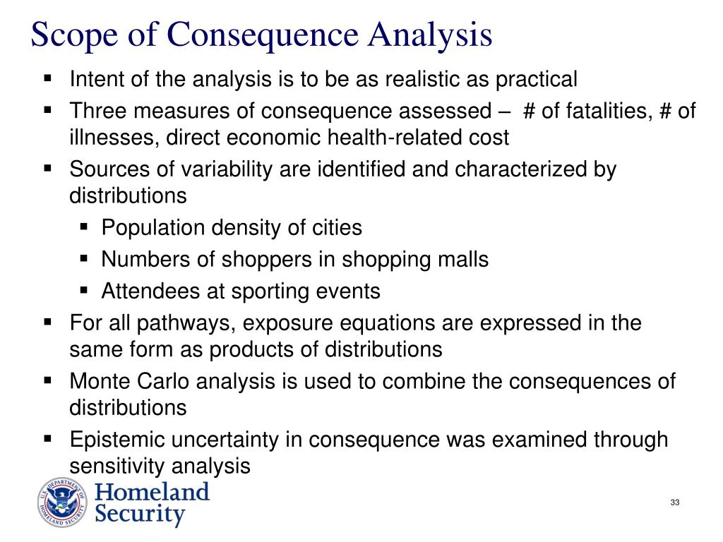 Scope of Consequence Analysis