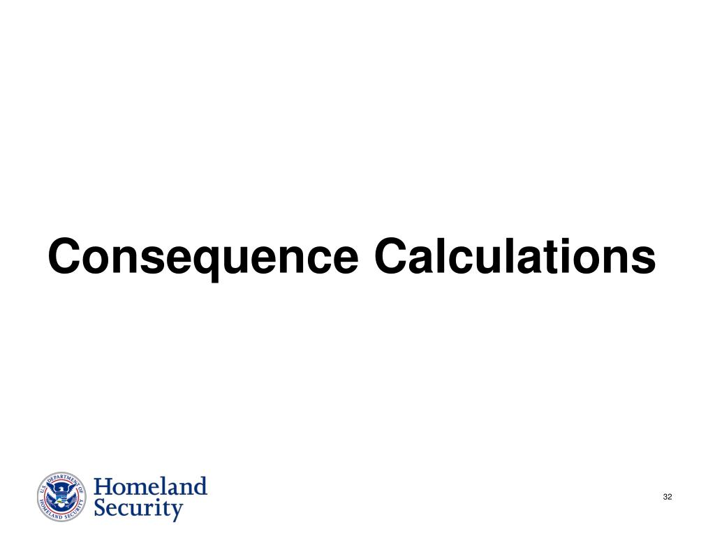 Consequence Calculations