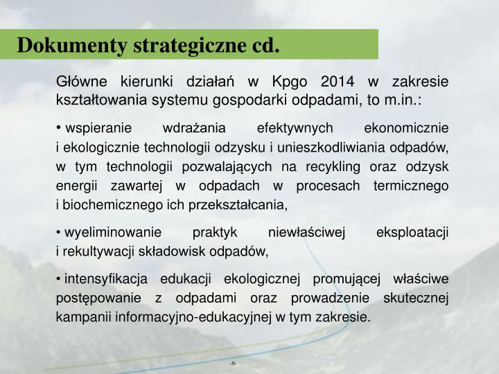 Dokumenty strategiczne cd.