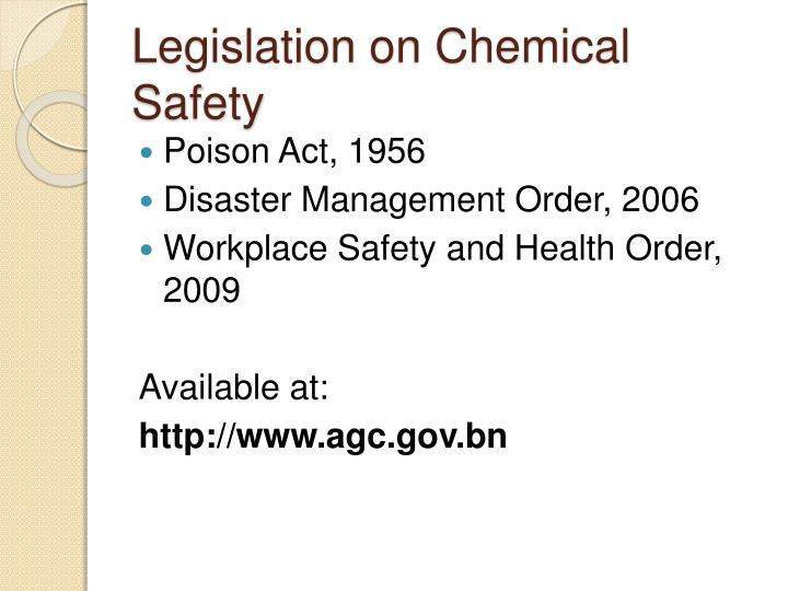 Legislation on Chemical Safety