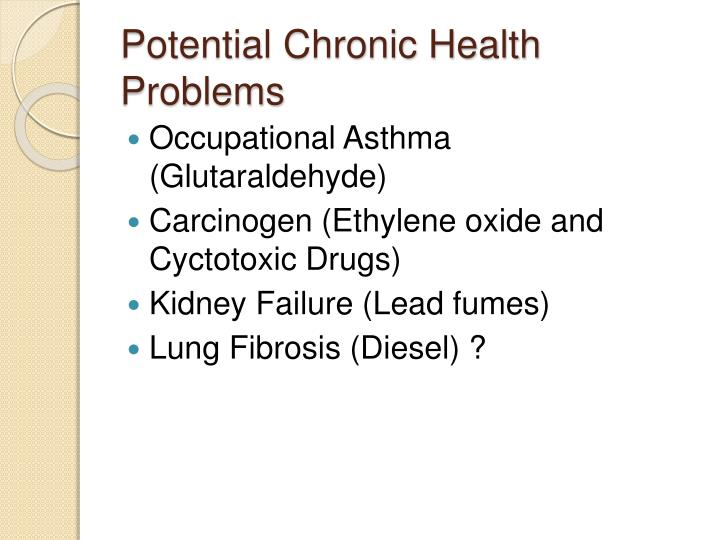 Potential Chronic Health Problems