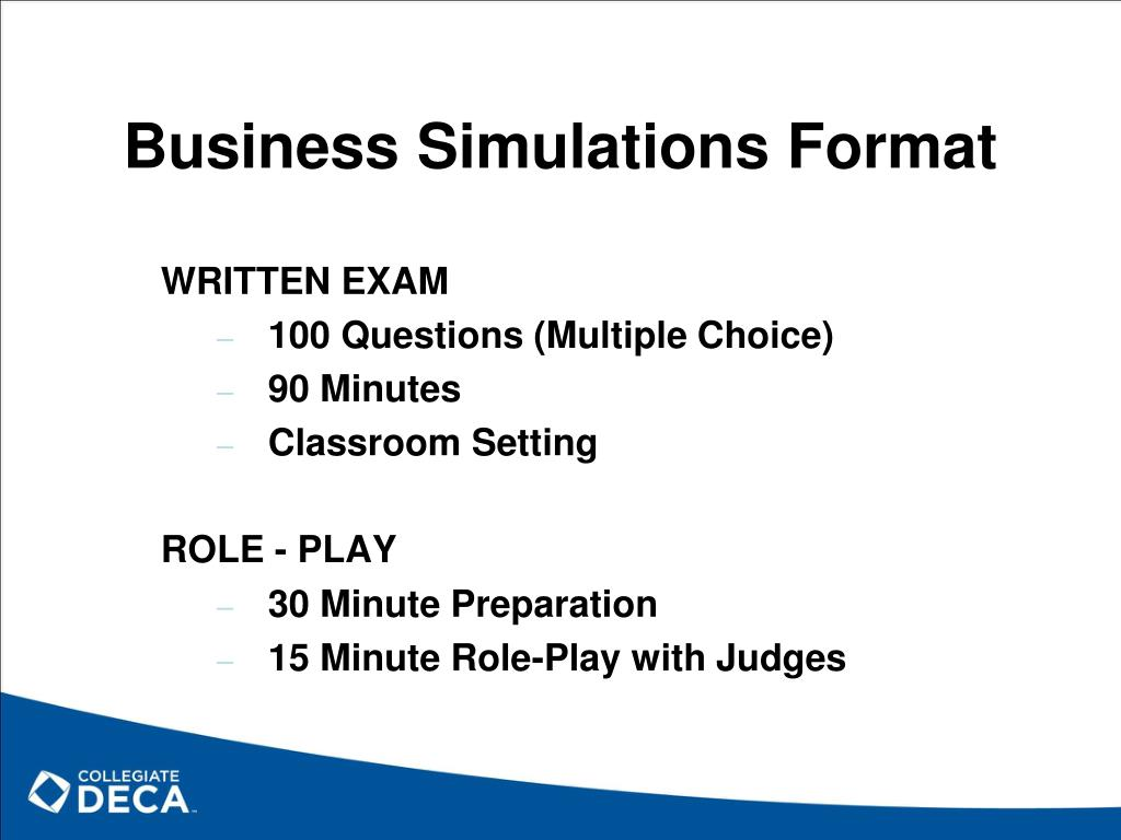 Business Simulations Format