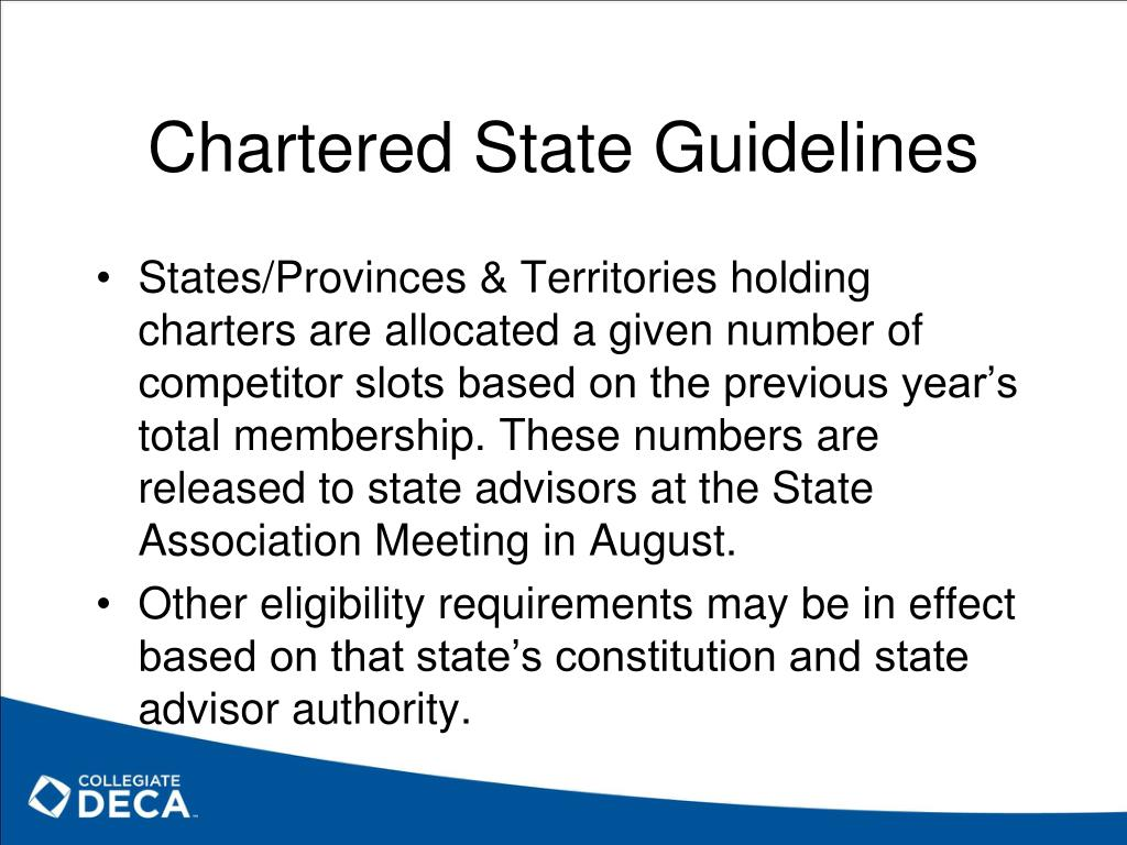 Chartered State Guidelines