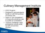 culinary management institute