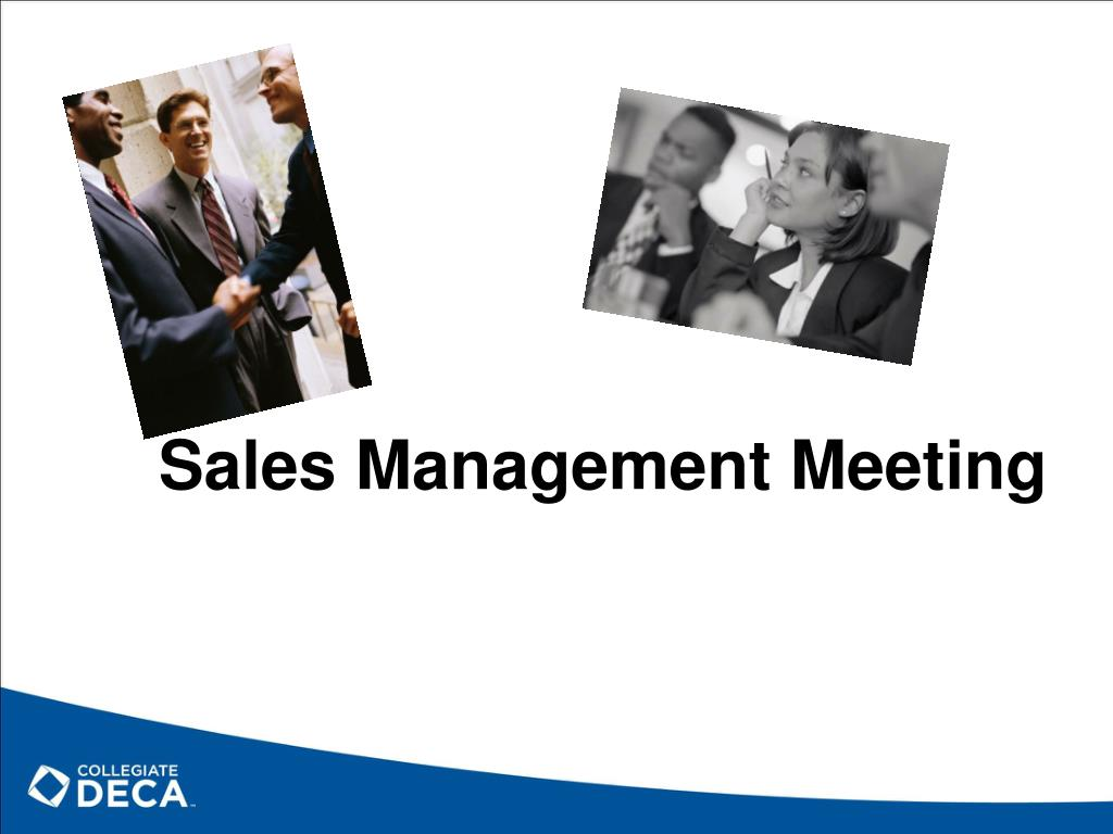 Sales Management Meeting