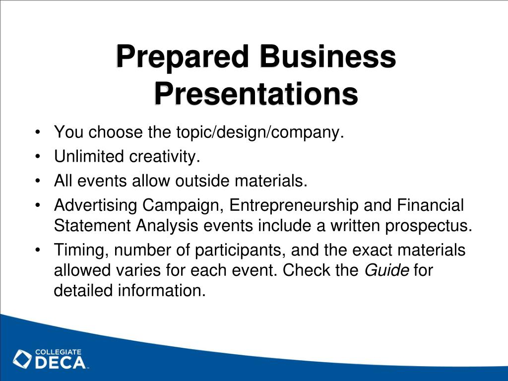 Prepared Business Presentations