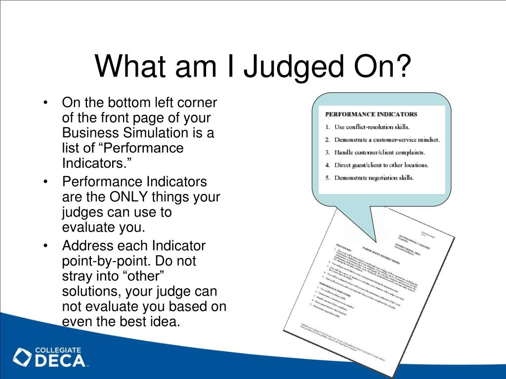 What am I Judged On?