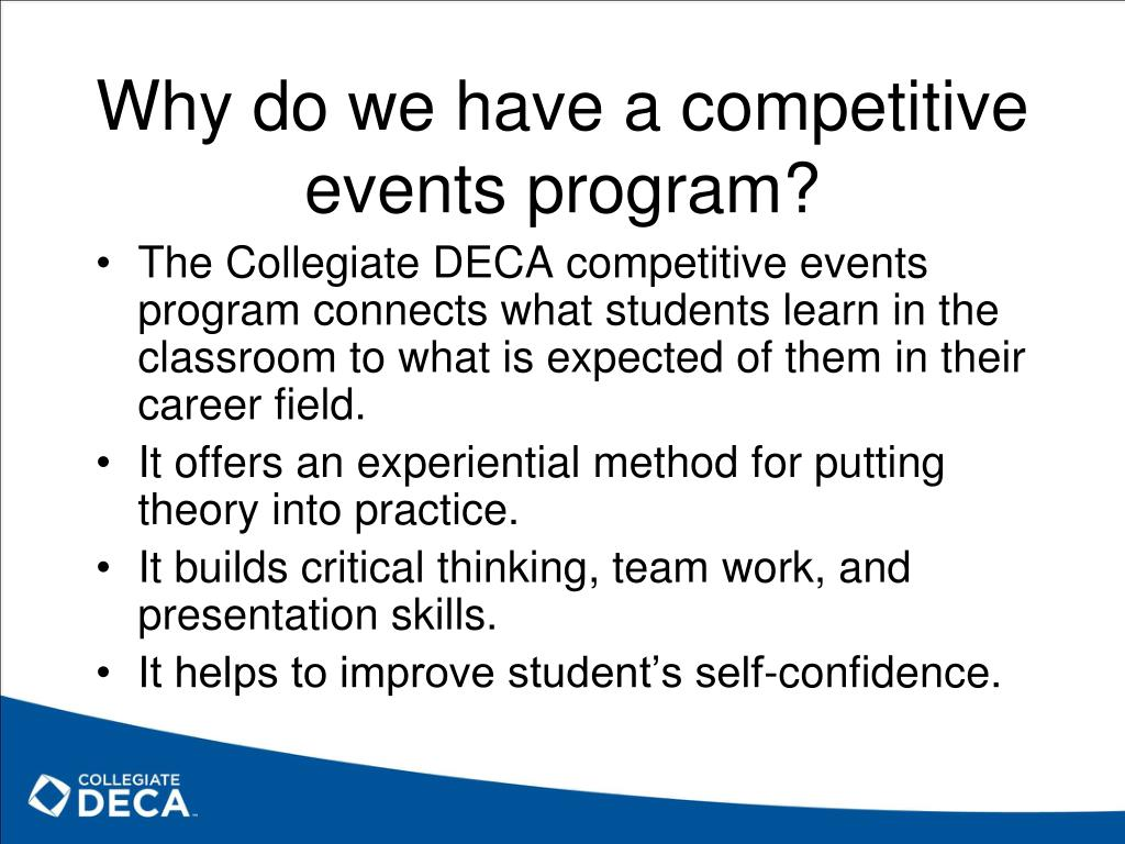 Why do we have a competitive events program?