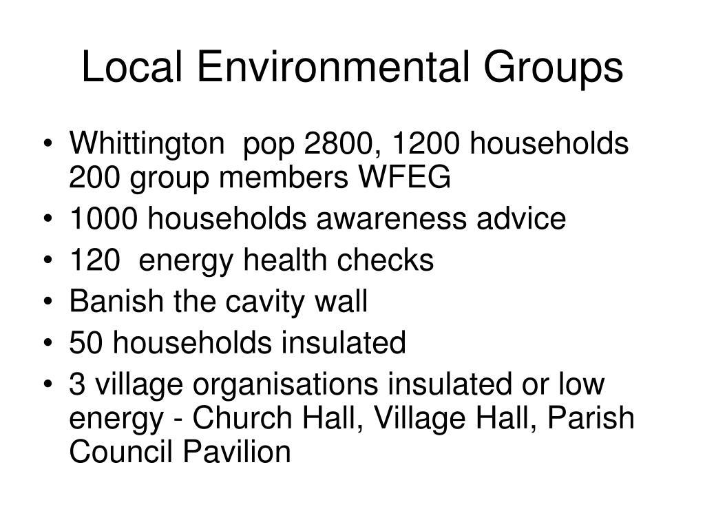 Local Environmental Groups