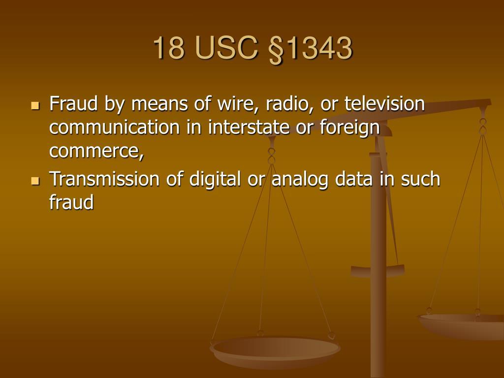 18 USC §1343