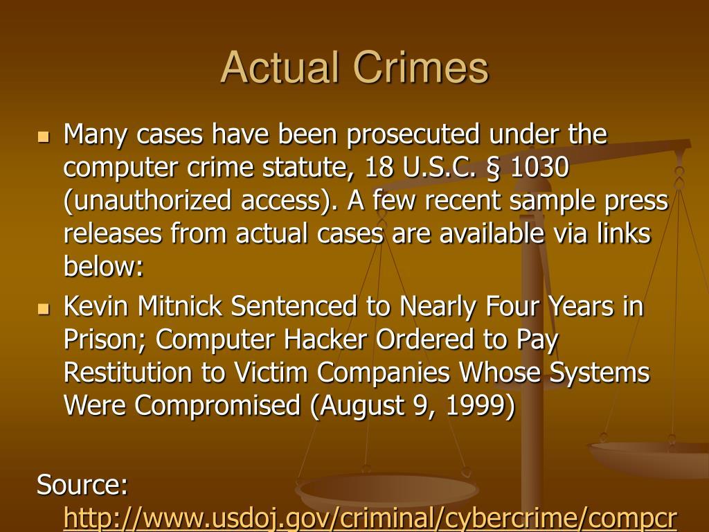 Actual Crimes
