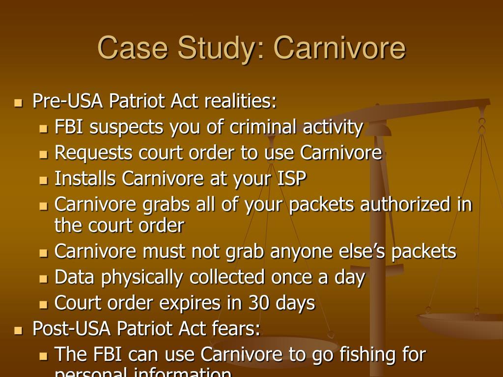 Case Study: Carnivore