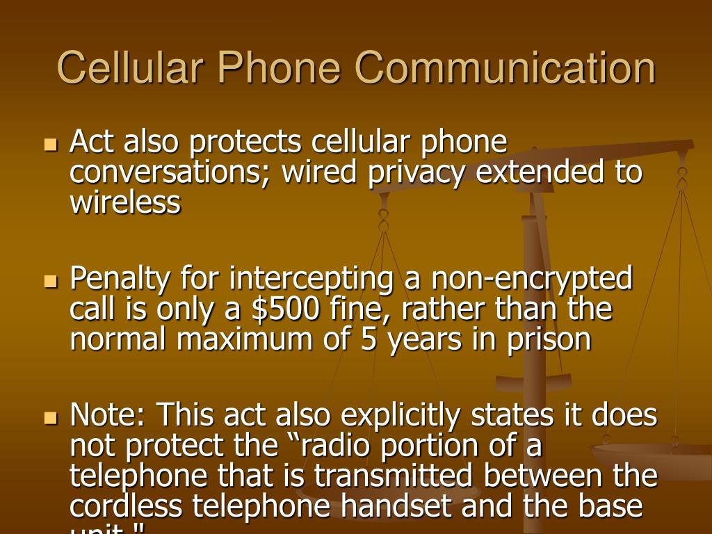 Cellular Phone Communication