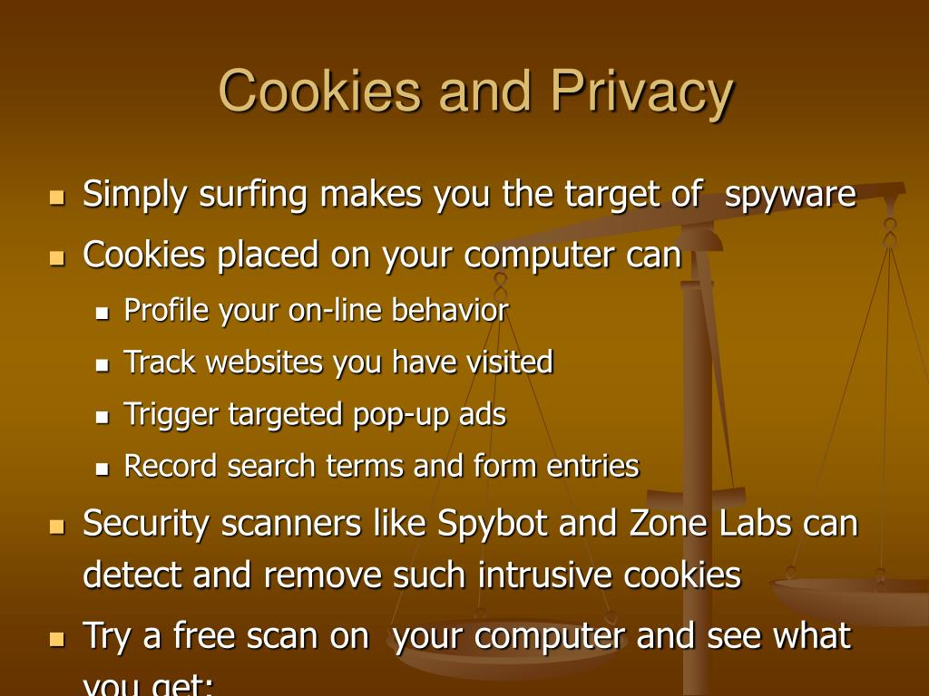 Cookies and Privacy