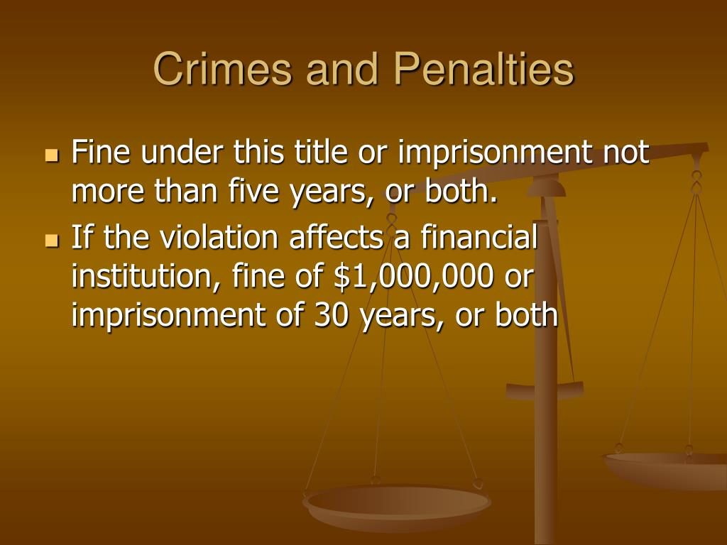 Crimes and Penalties