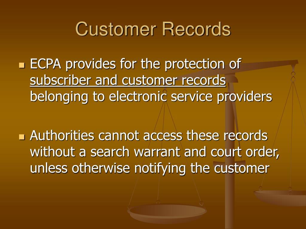 Customer Records