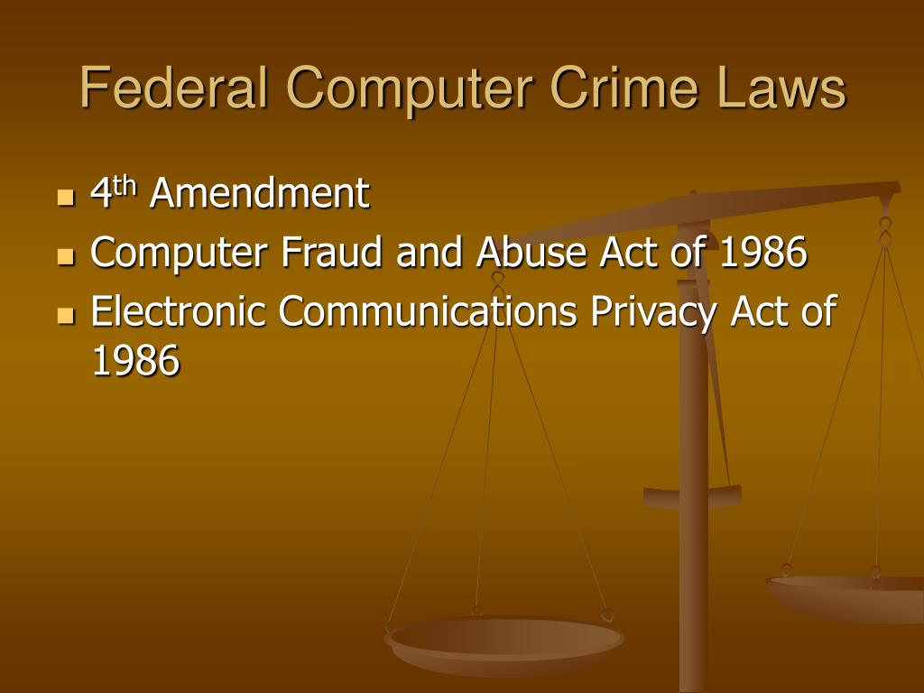 Federal Computer Crime Laws