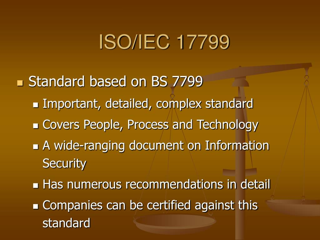 ISO/IEC 17799