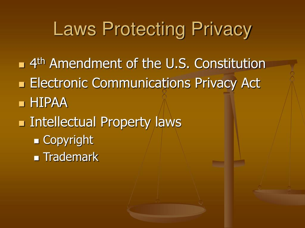 Laws Protecting Privacy