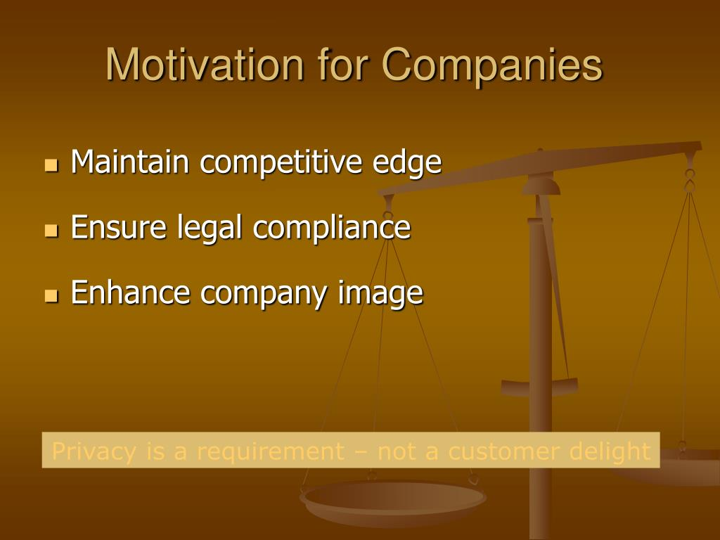 Motivation for Companies