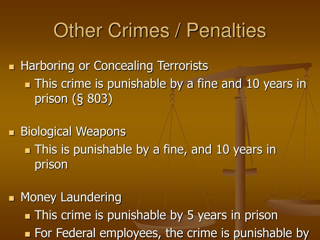 Other Crimes / Penalties