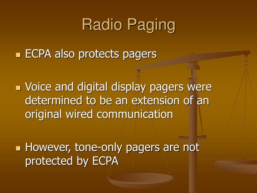 Radio Paging