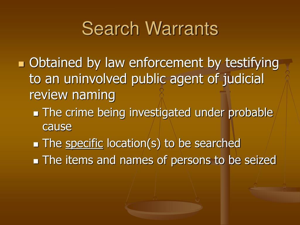Search Warrants