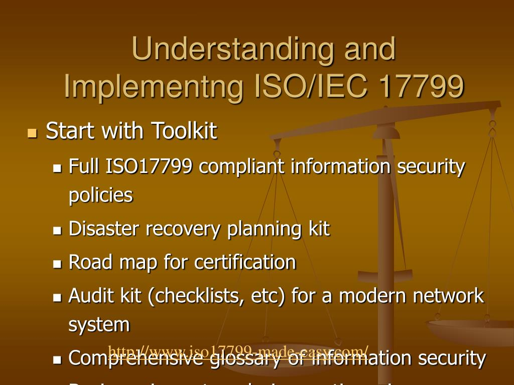 Understanding and Implementng ISO/IEC 17799