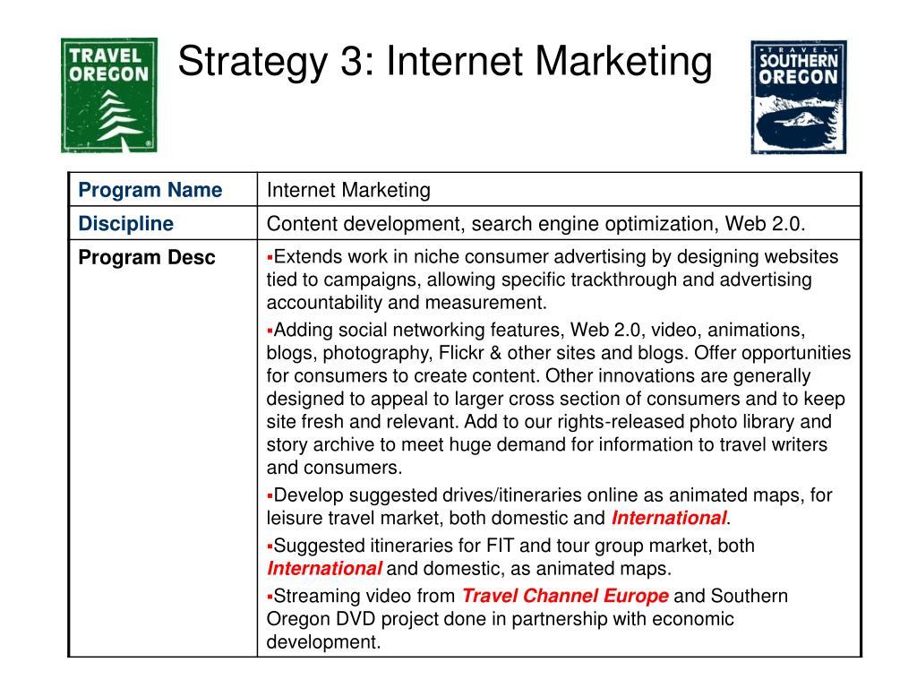 Strategy 3: Internet Marketing
