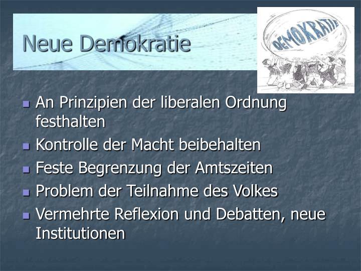 Neue Demokratie