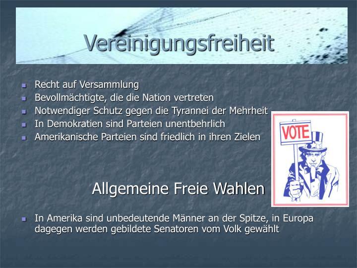 Vereinigungsfreiheit