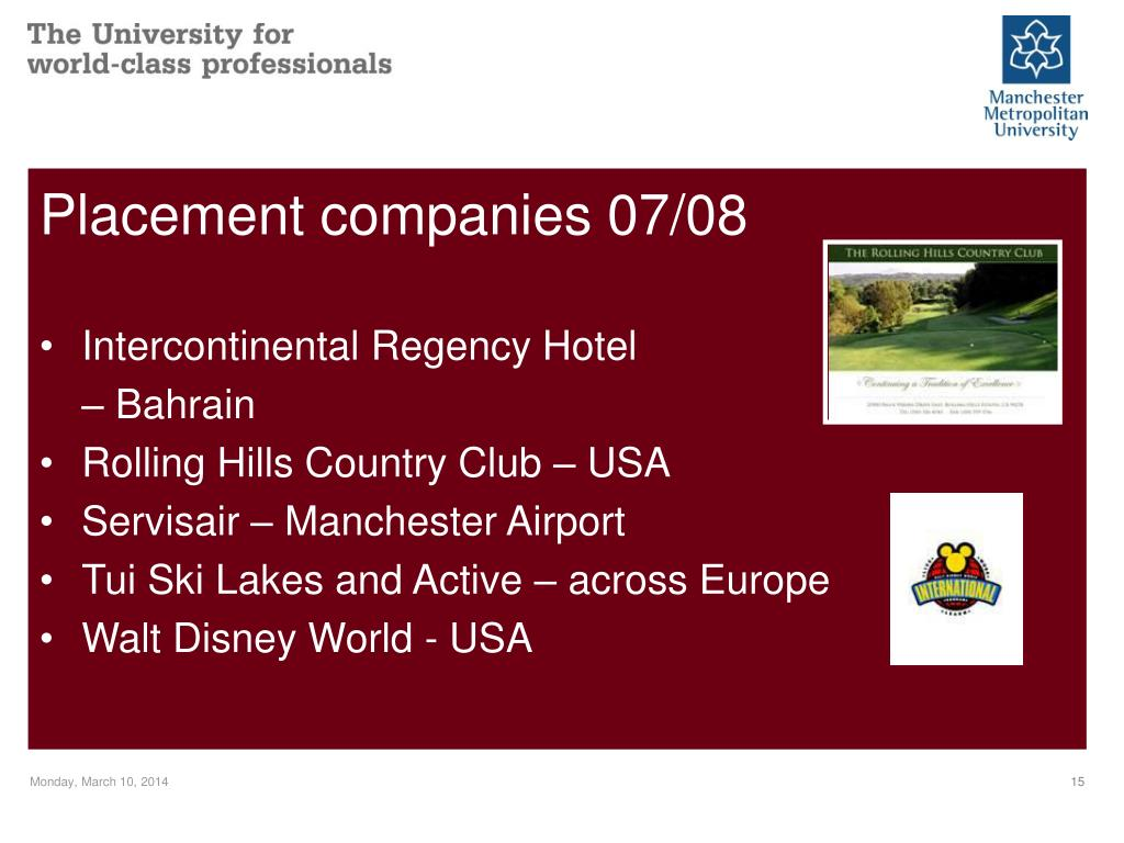 Placement companies 07/08